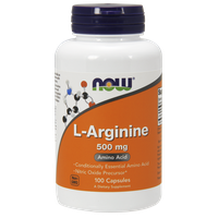 NOW SPORTS L-ARGININE 500 MG, 100 CAPS