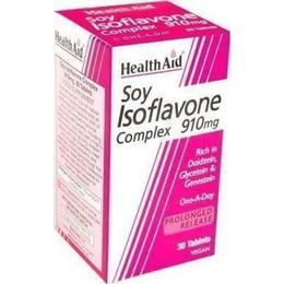 Health Aid Soy Isoflavones Complex 910 mg, 30 tabs