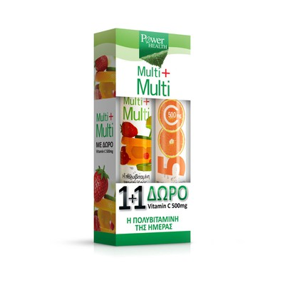 Power Health - Multi+Multi - 24eff.tabs & δώρο vitamin C 500mg - 20eff.tabs