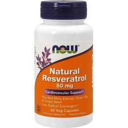 Now Resveratrol, w/ Red Wine & Green Tea Extract, 60 Vcaps