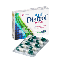 Intermed ANTI DIARROL Travel 100mg - Διάρροια ταξιδιωτών, 10caps
