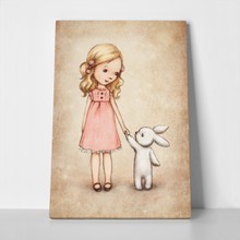 Little girl bunny vintage 159721772 a