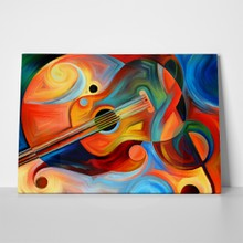 Colourful abstract guitars a