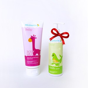 HELENVITA Baby body milk 200ml & ΔΩΡΟ Baby Hands cleansing gel ήπιο gel καθαρισμού χεριών 200ml