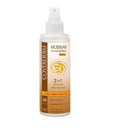 Coverderm Filteray Body Plus Deep Tan Spray SPF 30, 100ml