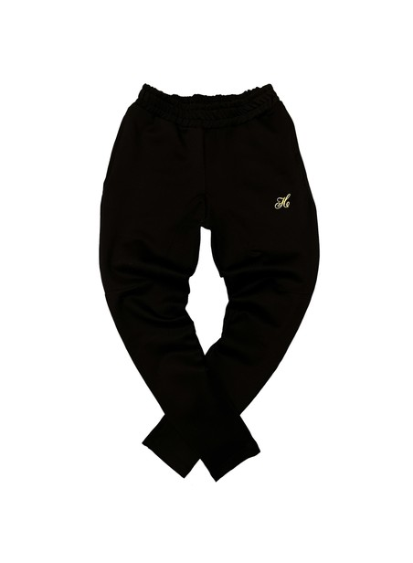 HENRY CLOTHING LOGO BLACK TRACKPANTS