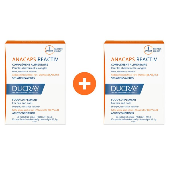 DUCRAY DUO ANACAPS REACTIV 2X30CAPS