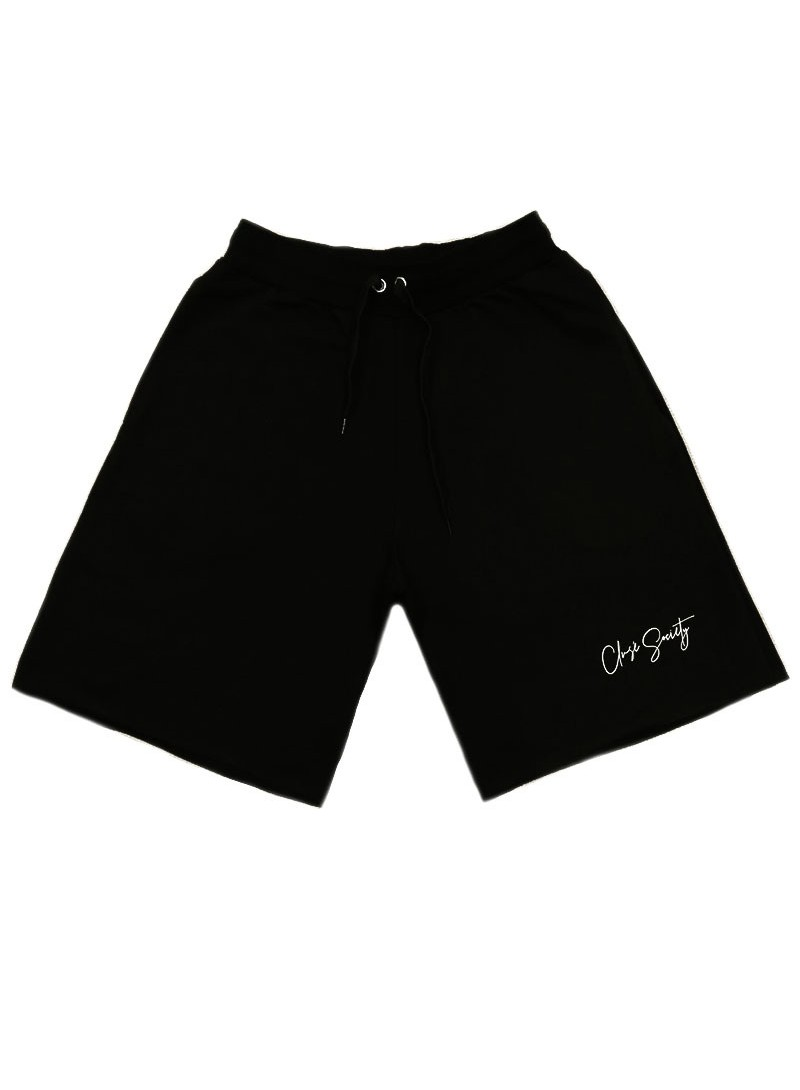 CLVSE SOCIETY BLACK CALLIGRAPH SHORTS