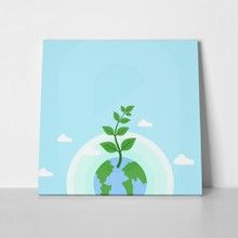 Earth day themed blue banner 1051237775 a