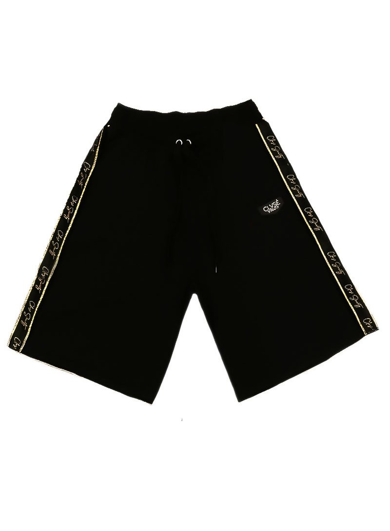 CLVSE SOCIETY BLACK LINE SHORTS