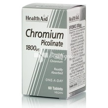 Health Aid CHROMIUM Picolinate 1800μg - Αδυνάτισμα, 60 veg. tabs