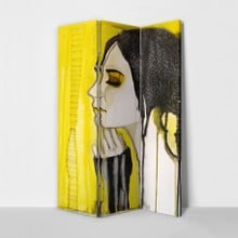 Girl portrait yellow divider 3