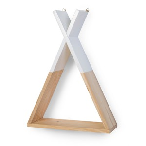 Ξύλινο Ράφι Childhome Tipi Natural White