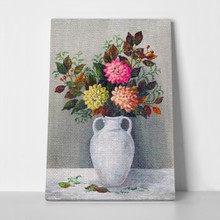 Dahlias in white jug 259659728 a