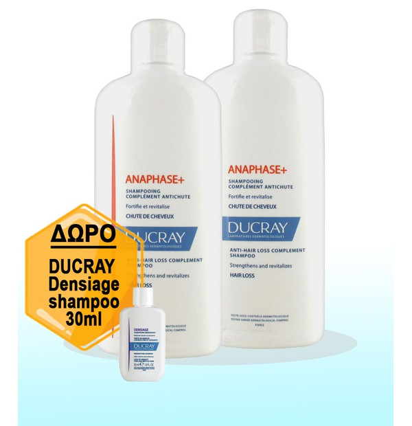 DUCRAY SHAMPOO ANAPHASE 400ML x 2