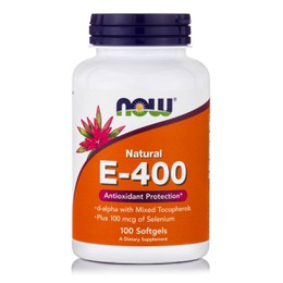 Now E400 IU w/ Selenium, 100 softgels