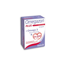 Health Aid Omegazon Plus Ω3 & CoQ10 60 κάψουλες
