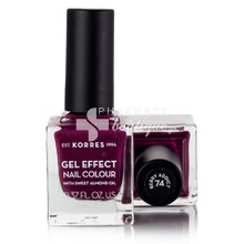 Korres Gel Effect BERRY ADDICT Νο.74 - Βερνίκι Νυχιών, 11ml