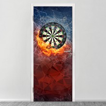 Dart board on fire