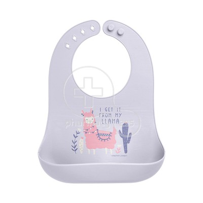 STEPHEN JOSEPH - SAFE AND SOUND Silicone Baby Bib 0m+ (Llama)