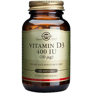 SOLGAR Vitamin D3 400iu 10mg 100softgels