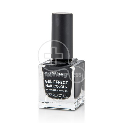 KORRES - GEL EFFECT Nail Colour No100 Black - 11ml