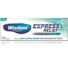Wisdom Express Relief Sesitive Toothpaste 75ml