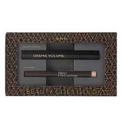Korres Beauty Goes Gold Set: Volcanic Minerals Mascara Drama Volume 01 Μαύρο 11ml + Twist Eyeshadow 68 Golden Pink - Σκιά Ματιών, 1.4g