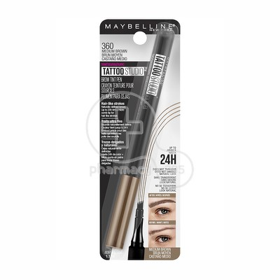 MAYBELLINE - TATTOO STUDIO Brow Micro Pen No120 (Medium Brown) - 8,5gr