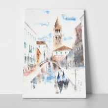 Venice italy watercolor painting illustration 430658182 a
