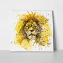 Head lion art yellow 320371895 a