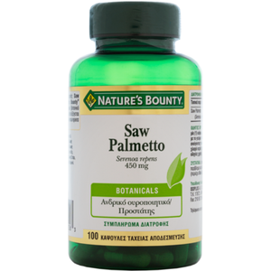 Natures boundy saw palmetto 450mg 100caps