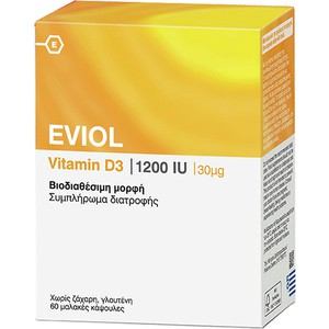 Eviol vitamin d3 1200iu 30mcg 60caps
