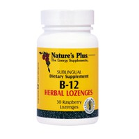NATURES PLUS VITAMIN B12 HERBAL LOZENGES 30ΤΕΜ