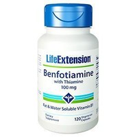 LIFE EXTENSION BENFOTIAMIN THIAMINE 100MG 120CAPS