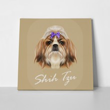 Illustrated portrait shih tzu dog 363183677 a