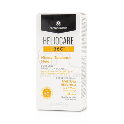 HELIOCARE - 360 Mineral Tolerance Fluid SPF50 - 50ml