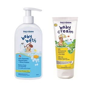 FREZYDERM Baby bath 300ml + Baby cream 175ml