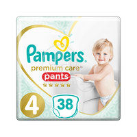 PAMPERS - PREMIUM CARE Pants No4 (9-15kg) - 38 πάνες