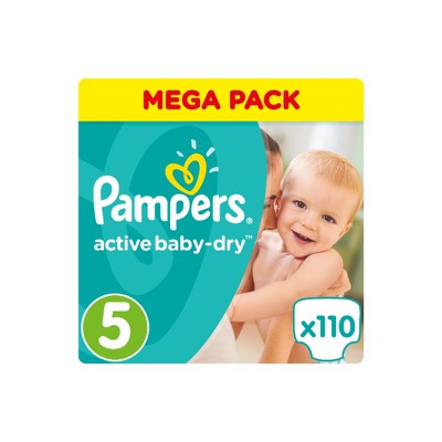 Pampers - Active Baby Dry Mega Pack No5 Junior (11-18kg) Βρεφικές Πάνες - 110 τεμάχια