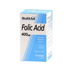 Health Aid Acid Folic 400mg 90 ταμπλέτες