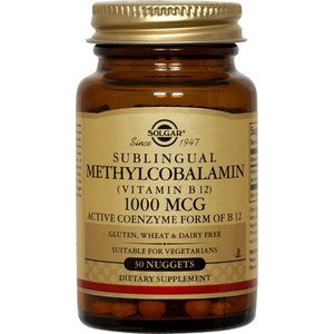 SOLGAR Vitamin B12 methylcobalamin1000mg 30nuggets