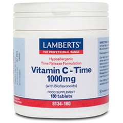 Lamberts Vitamin C-Time 1000mg 180 ταμπλέτες