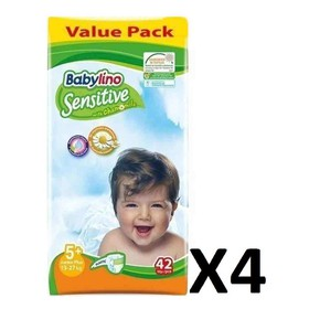 BABYLINO SENSITIVE JUNIOR N5+ 13-27+kg 168 (=4x42) ΤΕΜΑΧΙΑ
