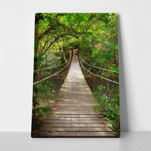 Bridge to the jungle thailand