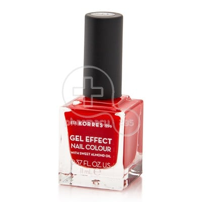 KORRES - GEL EFFECT Nail Colour Νο48 Coral Red - 11ml