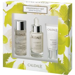 Caudalie Vinoperfect Set : Vinoperfect Radiance Serum Complexion Correcting, 30ml & Vinoperfect Night, 15ml & Vinoperfect Concentrated Brightening Essence, 50ml