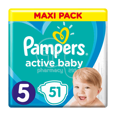 PAMPERS - MAXI PACK Active Baby Νο5 (11-16kg) - 51 πάνες