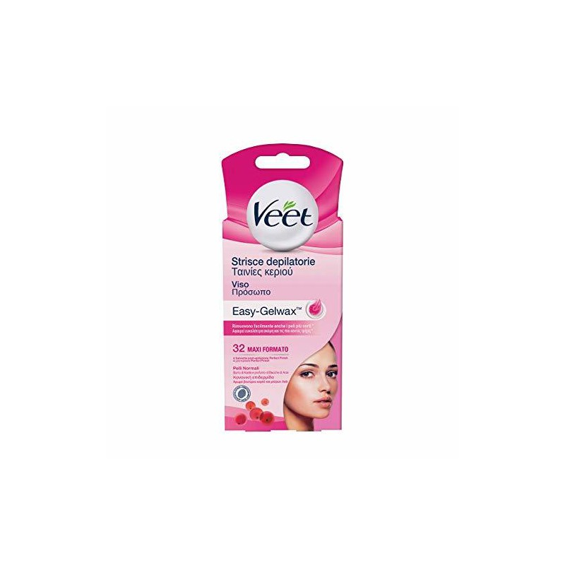 Veet Veet Wax Strips For Hair Removal For The Face 32pcs