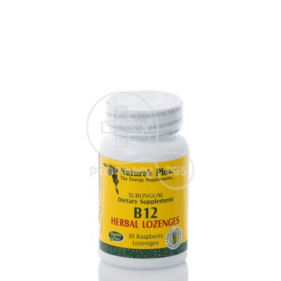 NATURE'S PLUS - B-12 Herbal Raspberry Lozenges 1000mcg - 30lozenges